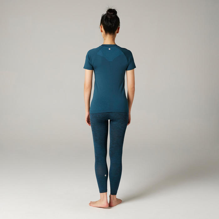 Women's Slim Yoga T-Shirt - Turquoise
