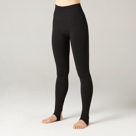 Women's Wide Hole Dynamic Yoga Leggings - Black