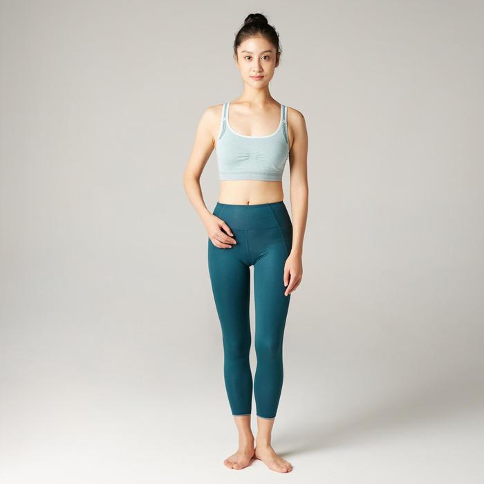 無縫舒緩瑜珈運動內衣 - 淺綠色