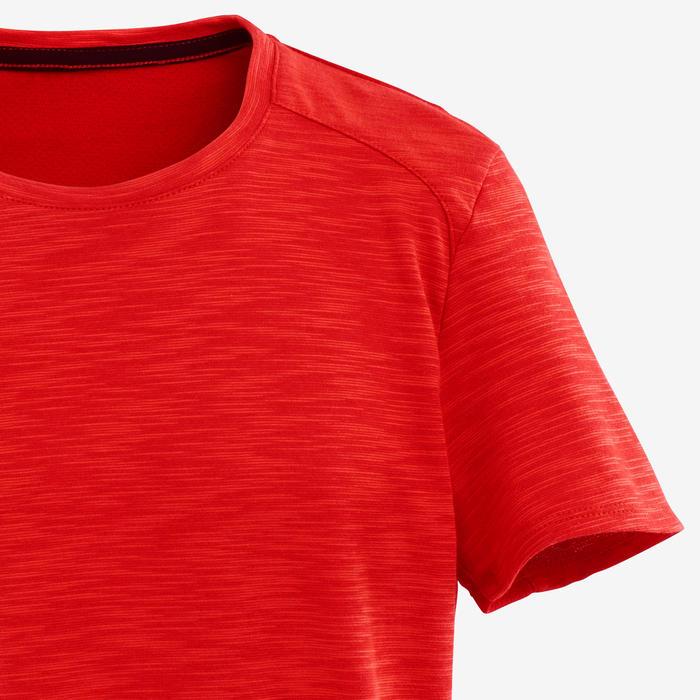 Camiseta manga corta algodón transpirable 500 niño GIMNASIA ...