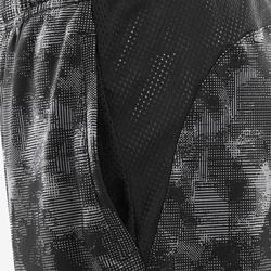Shorts atmungsaktiv S500 Gym Kinder schwarz mit Print