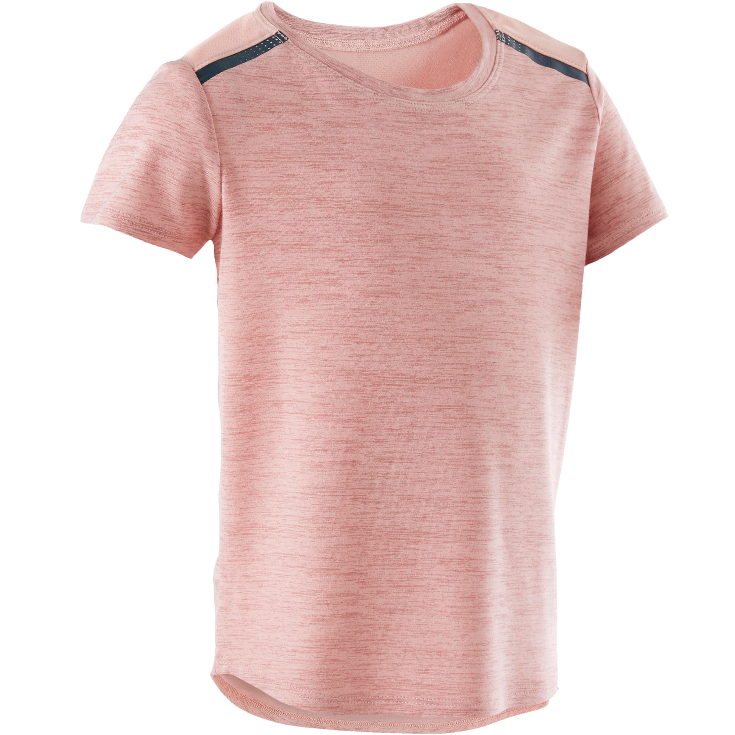T shirt 500 baby gym fille et garçon rose domyos