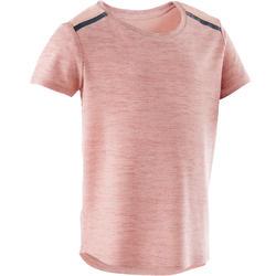 T-shirt 500 Baby Gym fille et garçon Rose