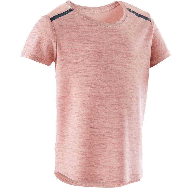 Ademend en licht T-shirt voor kleutergym roze