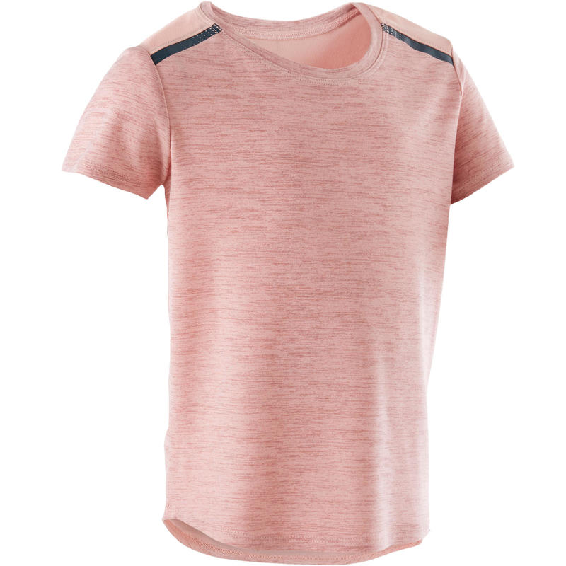 Girls' and Boys' Baby Gym T-Shirt 500 - Pink