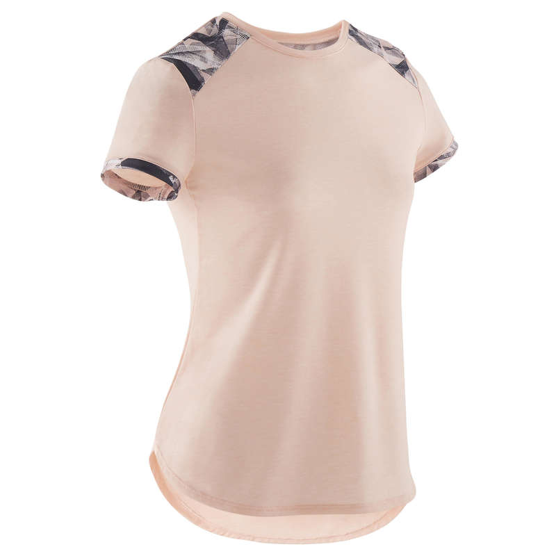GIRL EDUCATIONAL GYM APPAREL Fitness and Gym - Girls' Gym T-Shirt 500 - Pink DOMYOS - Gym Activewear
