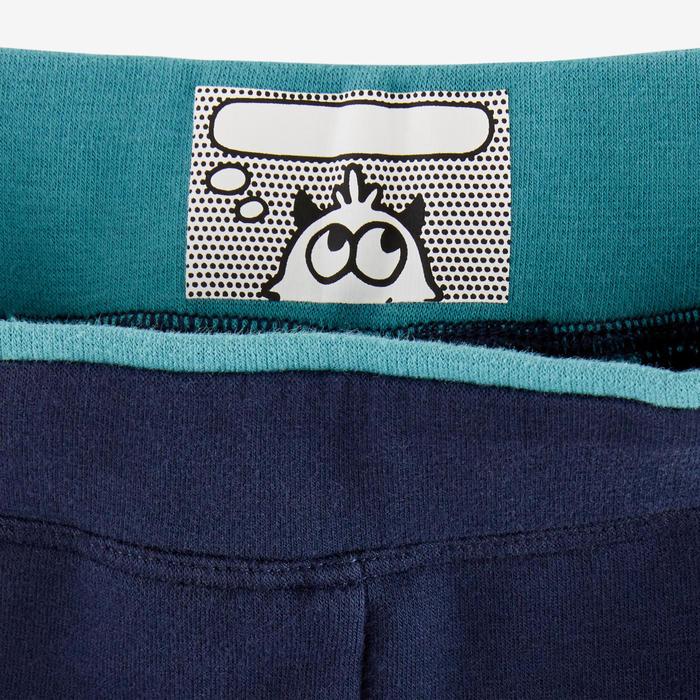 Pantalon 500 Baby Gym fille et garçon Marine