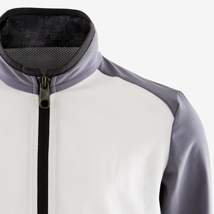 Licht en ademend vest voor gym jongens W500 wit/donkergrijs