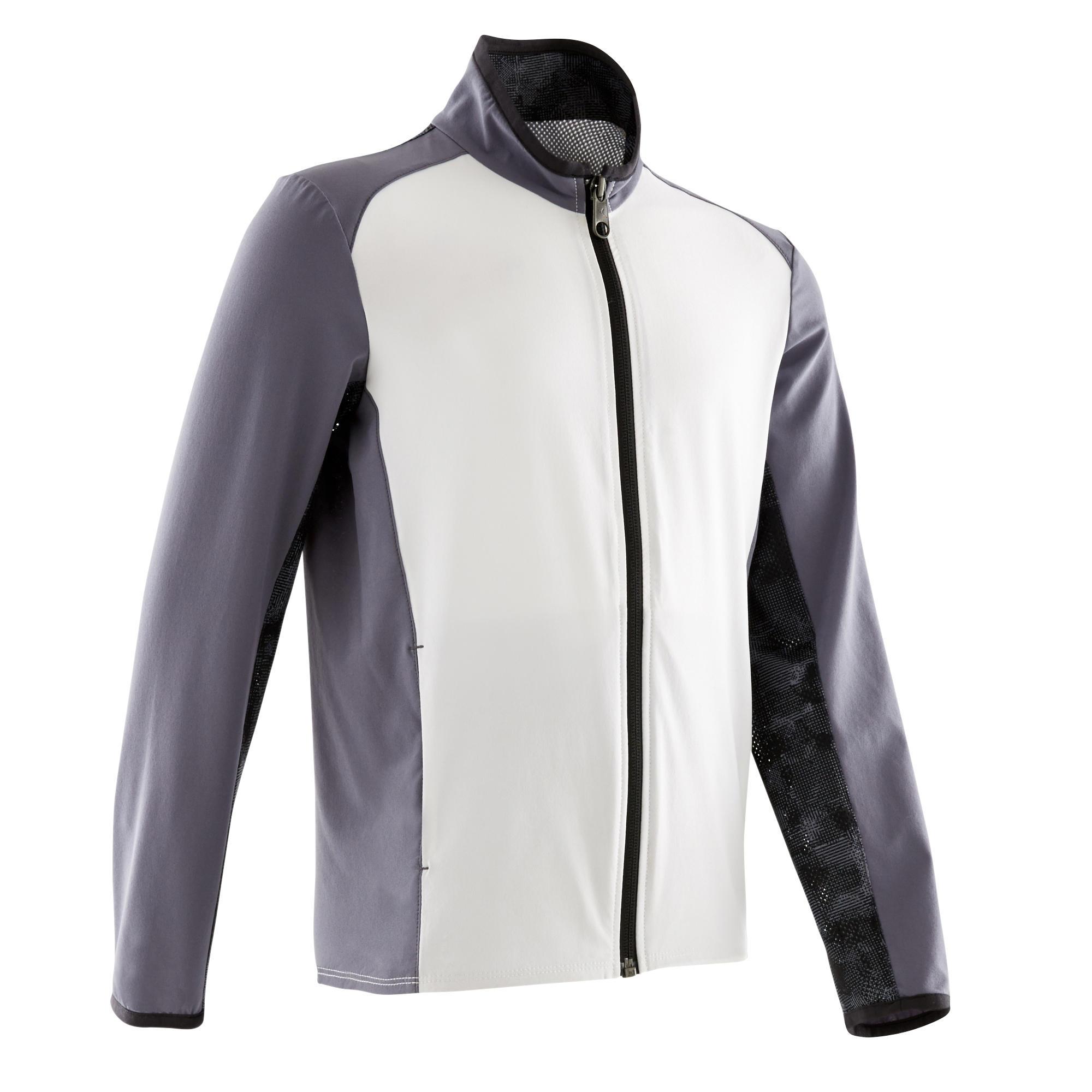 Jachetă W500 alb gri băieți