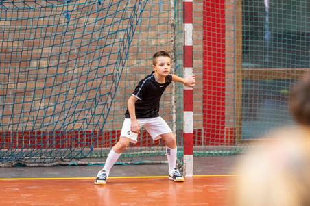 Kids' Lace-Up Handball Shoes H100 - White/Black