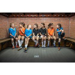 Chaussures de handball enfant H100 avec lacets orange/gris