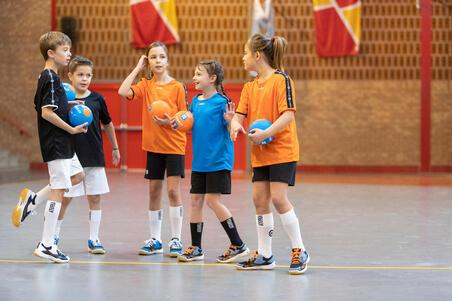Bola Tangan Anak Ukuran 1 H100 - Biru/Oranye