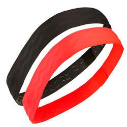 女童健身頭帶S900一雙入 - 霓虹粉與黑色