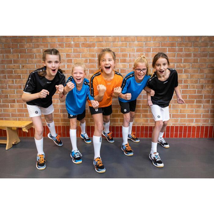 Sapatilhas de Andebol com Atacadores H100 Criança Azul/Preto