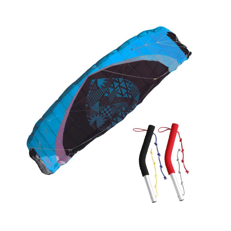 """Vilkšanas pūķis """"Zeruko"""", 2,5 m² + vadīšanas rokturi, zils"""