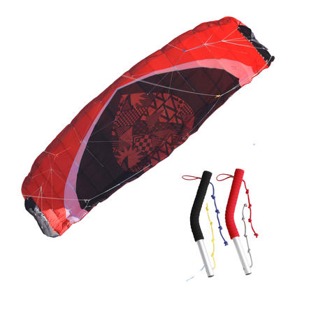 Zeruko Traction Kite 3.5 m2 + Steering Handles - Red
