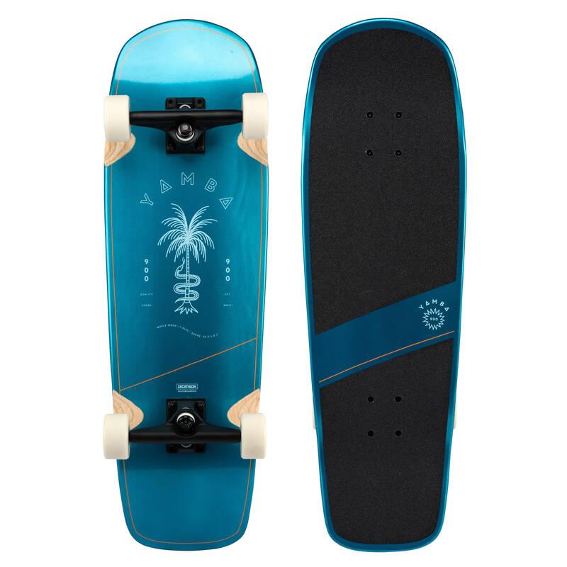 LONGBOARDYSK8 A CRUISERY Skateboarding, longboarding, waveboarding - YAMBA 900 PALM BLUE OXELO - Vybavení na longboard a cruiser