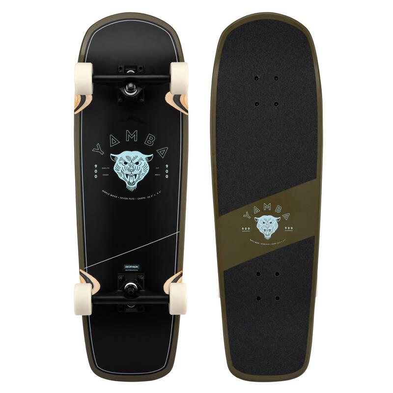 LONGBOARDYSK8 A CRUISERY Skateboarding, longboarding, waveboarding - CRUISER YAMBA 900 TIGER KHAKI OXELO - Vybavení na longboard a cruiser