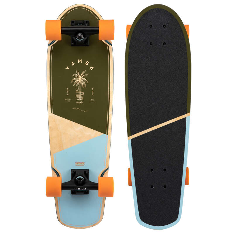Longboards Trotinete Role Skateboard - Cruiser YAMBA 500 OXELO - Skateboard Longboard