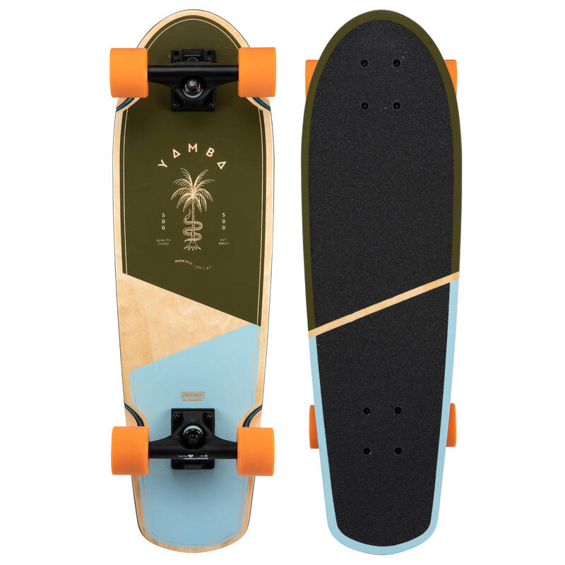 LONGBOARDYSK8 A CRUISERY Skateboarding, longboarding, waveboarding - CRUISER YAMBA 500 KHAKI OXELO - Vybavení na longboard a cruiser