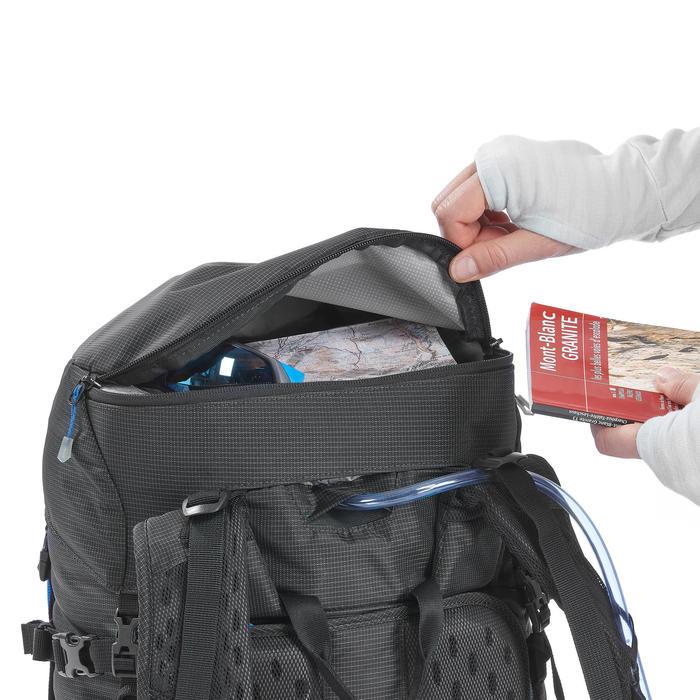 Rugzak voor bergbeklimmen 40 + 10 liter zwart