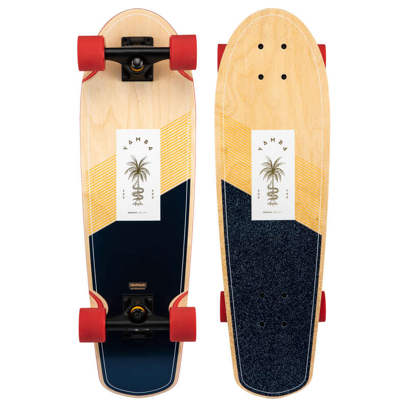 LONGBOARD AND CRUISER Skateboarding and Longboarding - Yamba 500 - Palm Wood OXELO - Skateboarding and Longboarding