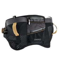 TRAIL RUNNING HYDRATION BELT 2 X 500 ML SOFT FLASK - BLACK/BRONZE