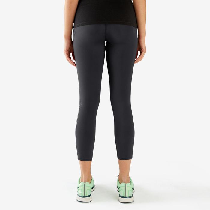 7/8 WOMEN'S RUNNING LEGGINGS KIPRUN SUPPORT - BLACK