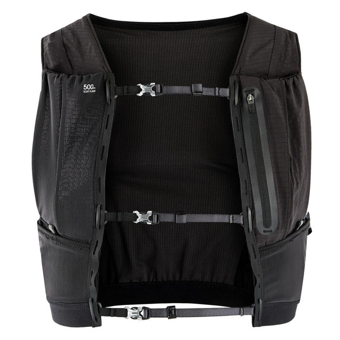 GILET D' HYDRATATION TRAIL MIXTE 5L PORTE FLASQUES NOIR