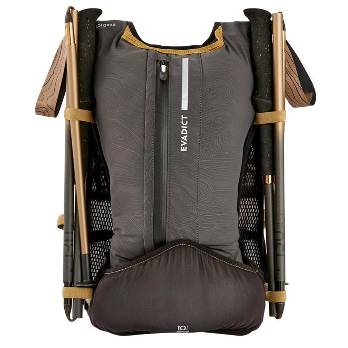中性10 L越野跑步背包 - 黑色與古銅配色