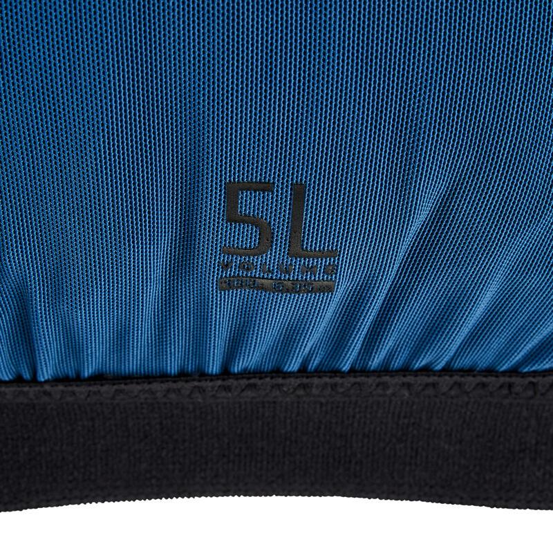 Unisex Trail Running Hydration Vest 5L Flask Holder - blue