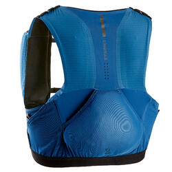 Unisex Trail Running Hydration Vest 5L Flask Holder - blue