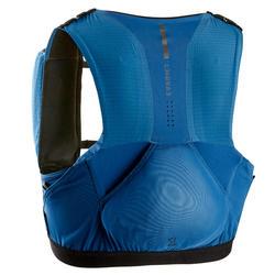 Gilet trail porta flask unisex 5L azzurro