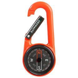 Karabinerkompas voor oriëntatieloop Compact 50 oranje