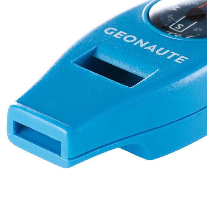 Multifunktionspfeife mit Kompass 50 blau