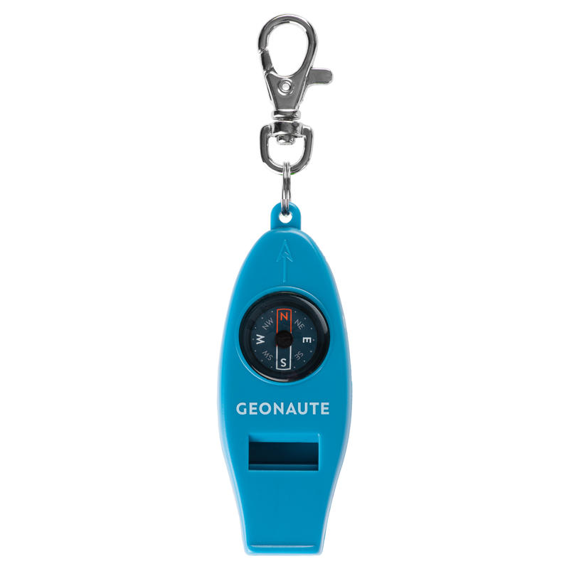 50 MULTI-PURPOSE WHISTLE AND ORIENTEERING COMPASS - BLUE