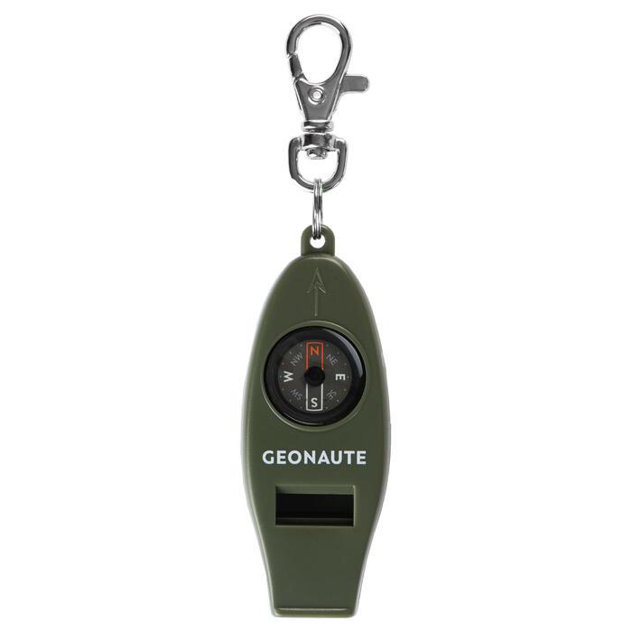 Sifflet multifonctions boussole d'orientation 50 KAKI