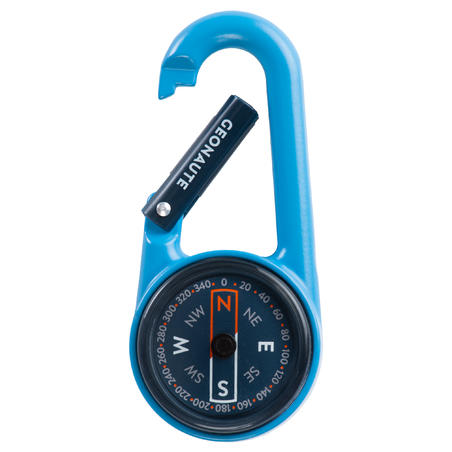 COMPACT 50 SNAP-HOOK ORIENTEERING COMPASS - BLUE