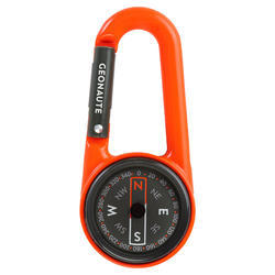 Boussole mousqueton d'orientation compacte 50 ORANGE