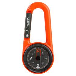 Bussola moschettone orienteering COMPACT 50 arancione