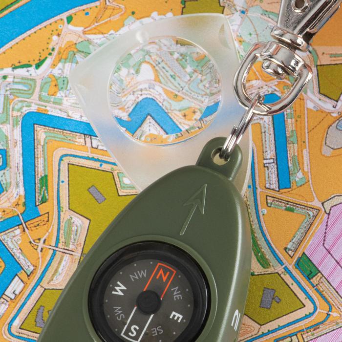 Multifunktionspfeife mit Kompass 50 khaki