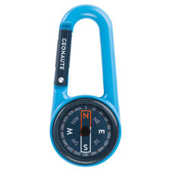 Bussola moschettone orienteering COMPACT 50 azzurra