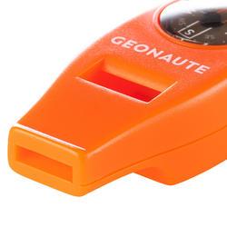 Multifunktionspfeife mit Kompass 50 orange