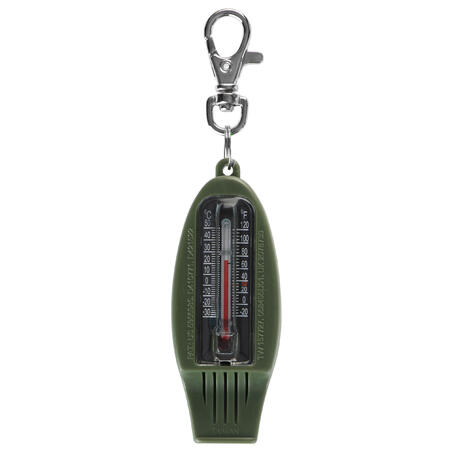 50 MULTI-PURPOSE WHISTLE AND ORIENTEERING COMPASS - KHAKI