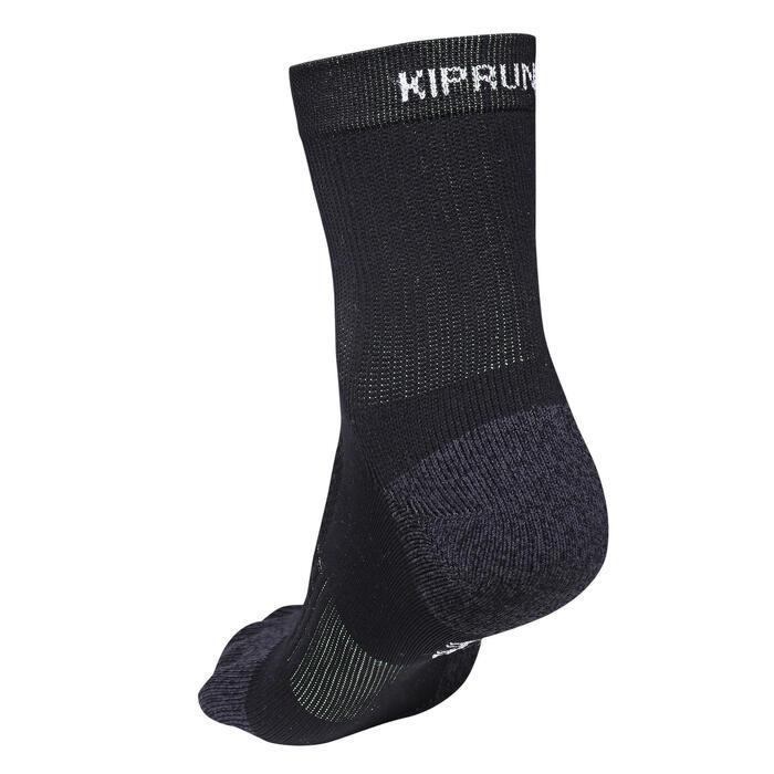 跑步五指襪 - 黑色/黃色