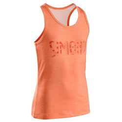 女童款攀岩彈性背心-橘藍色