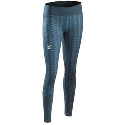 LEGGING D'ESCALADE STRETCH FILLE GRIS TEMPÊTE