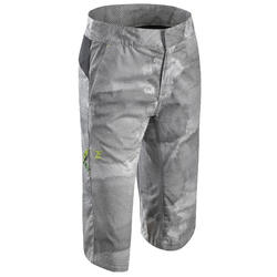 男童款攀岩彈性短褲-百穆達淺灰
