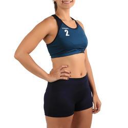 Beachvolleyball-Shorts BVSH500 Damen blau/gelb