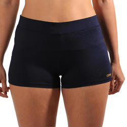 Short de beach-volley femme BVSH500 bleu et jaune